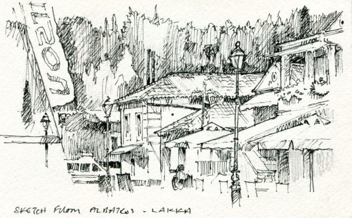 Pen Sketch : Lakka